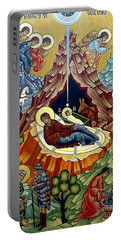 Orthodox Nativity Of Christ Portable Battery Charger by Munir Alawi