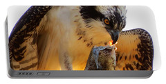 Portable Battery Charger featuring the photograph Osprey Breakfast by Dianne Cowen