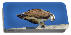 Portable Battery Charger featuring the photograph Osprey Eating Lunch by Dale Powell