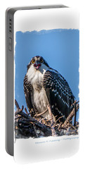 Osprey Surprise Party Card Portable Battery Charger by Edward Fielding