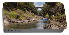 Portable Battery Charger featuring the photograph Ottauquechee River Flowing Through The Quechee Gorge by John M Bailey