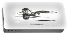 Otter In The Water Portable Battery Charger