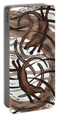 Otter With Eel, 2013 Woodcut Portable Battery Charger