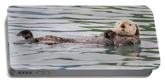 Portable Battery Charger featuring the photograph Otterly Adorable by Chris Scroggins