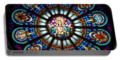 Our Blessed Mother Portable Battery Charger by Debby Pueschel