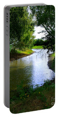 Portable Battery Charger featuring the photograph Our Fishing Hole by Peter Piatt