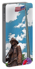 Portable Battery Charger featuring the photograph Our Heroes by Charlotte Schafer
