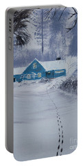 Our Little Cabin In The Snow Portable Battery Charger