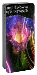 Our Love Is Now Forever Entwined Portable Battery Charger by Absinthe Art By Michelle LeAnn Scott