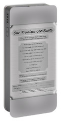 Our Promises Certificate Portable Battery Charger