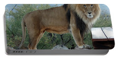 Out Of Africa  Lion 1 Portable Battery Charger