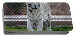 Out Of Africa White Tiger Portable Battery Charger
