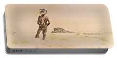 Portable Battery Charger featuring the painting Out There by Michele Myers