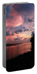 Out With A Roar Sunset Over Water Tarpon Springs Florida Portable Battery Charger