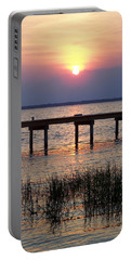 Portable Battery Charger featuring the photograph Outerbanks Nc Sunset by Sandi OReilly