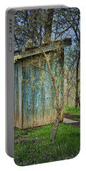 Outhouse In Spring Portable Battery Charger by Nikolyn McDonald