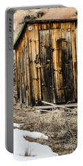 Portable Battery Charger featuring the photograph Outhouse With Electricity by Sue Smith