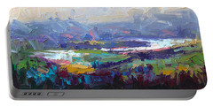 Overlook Abstract Landscape Portable Battery Charger