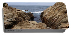 Overcast Day At Pebble Beach Portable Battery Charger