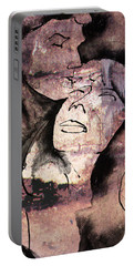 Portable Battery Charger featuring the painting Overlaps I by Paul Davenport