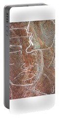 Portable Battery Charger featuring the drawing Overlaps II by Paul Davenport