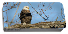 Portable Battery Charger featuring the photograph Overlooking Freedom by Steven Santamour