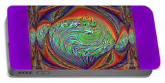 Portable Battery Charger featuring the photograph Abstract Art. Purple Orange  by Oksana Semenchenko
