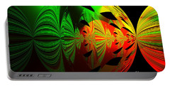 Art. Unigue Design.  Abstract Green Red And Black Portable Battery Charger