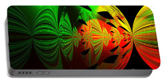 Portable Battery Charger featuring the photograph Art. Unigue Design.  Abstract Green Red And Black by Oksana Semenchenko