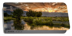 Owens River Sunset Portable Battery Charger