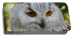 Portable Battery Charger featuring the photograph Owl Bird Animal Eagle Owl by Paul Fearn