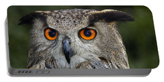 Owl Bubo Bubo Portrait Portable Battery Charger