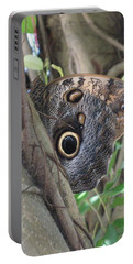 Owl Butterfly In Hiding Portable Battery Charger
