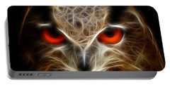 Owl - Fractal Artwork Portable Battery Charger
