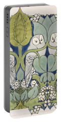 Owls, 1913 Portable Battery Charger by Charles Francis Annesley Voysey
