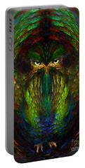 Portable Battery Charger featuring the digital art Owly Spirit - Fantasy Art By Giada Rossi by Giada Rossi
