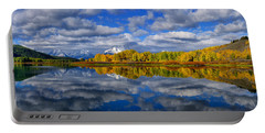 Oxbow Bend Peak Autumn Panorama Portable Battery Charger