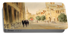 Portable Battery Charger featuring the painting Oxford High Street by Bill Holkham
