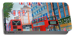 Oxford Street- Queen's Diamond Jubilee  Portable Battery Charger by Magdalena Frohnsdorff