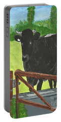 Oxleaze Bull Portable Battery Charger by John Williams