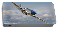 P51 Mustang - Symphony In Blue Portable Battery Charger