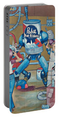 Portable Battery Charger featuring the photograph Pabst Mural In The Loop by Kelly Awad