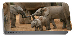 Pachyderm Pals Portable Battery Charger by Bruce J Robinson