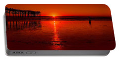 Pacific Beach Sunset Portable Battery Charger by Tammy Espino