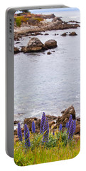 Pacific Grove Coastline Portable Battery Charger by Melinda Ledsome