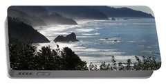 Pacific Mist Portable Battery Charger by Karen Wiles
