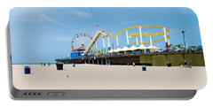 Pacific Park, Santa Monica Pier, Santa Portable Battery Charger by Panoramic Images