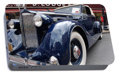 Portable Battery Charger featuring the photograph Packard 1207 Convertible 1935 by John Schneider