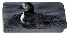 Portable Battery Charger featuring the photograph Paddling Puffin by Daniel Hebard