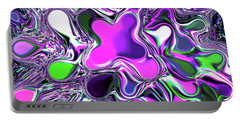 Paint Ball Color Explosion Purple Portable Battery Charger
